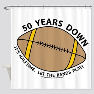 50th Birthday Football Shower Curtain