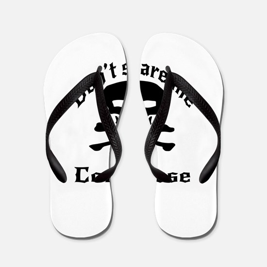 Do Not Scare Me I Am Congolese Flip Flops