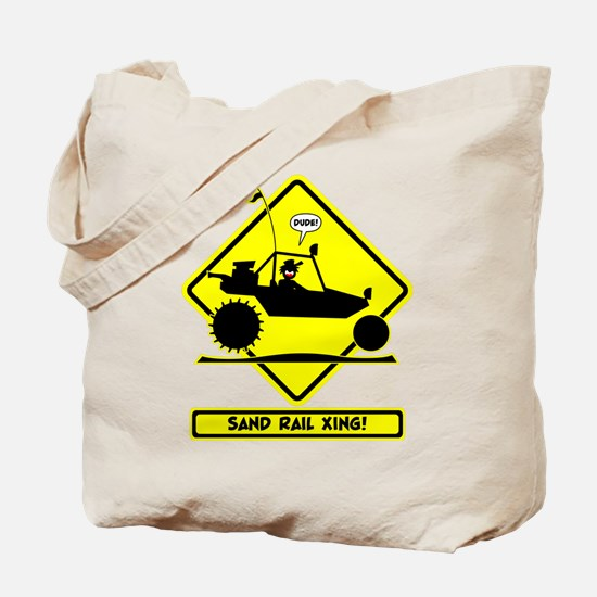 Stickman Sand Rail Road Signs Tote Bag