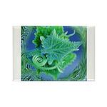 Leafy Rectangle Magnet