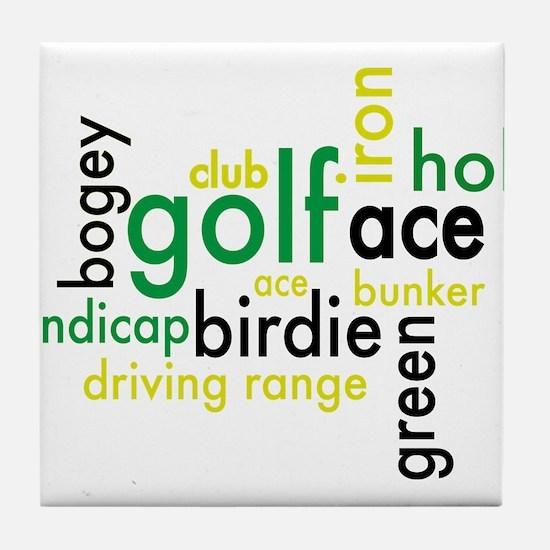 Golf Tile Coaster