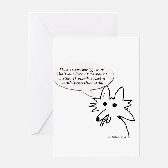 Swim or Sink Greeting Card