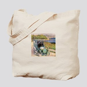 Antique Sunday Drive by the Sea Tote Bag