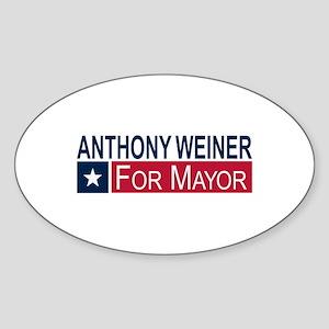 Elect Anthony Weiner Sticker (Oval)
