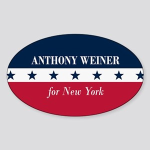 Anthony Weiner for NYC Sticker (Oval)