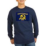 New Oregon Flag Long Sleeve Dark T-Shirt
