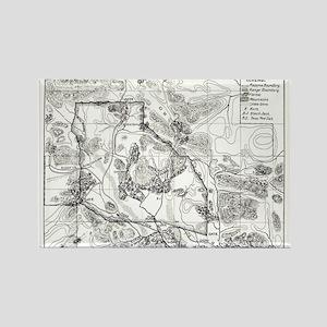 Vintage Map of Oklahoma - Buffalo Range Rectangle