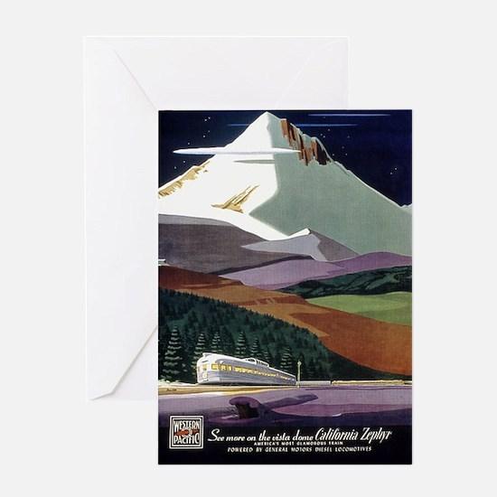 California Zephyr, Vintage Poster Greeting Card