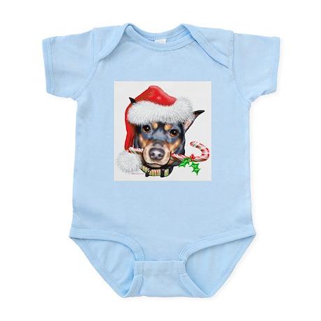 Min Pin Christmas Infant Bodysuit