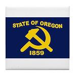 New Oregon Flag Tile Coaster