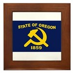 New Oregon Flag Framed Tile