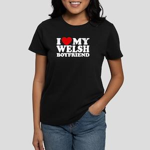 I Love My Welsh Boyfriend Women's Dark T-Shirt