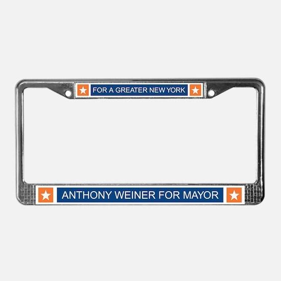 Elect Anthony Weiner OB License Plate Frame