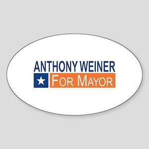 Elect Anthony Weiner OB Sticker (Oval)