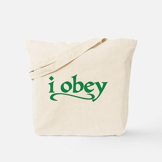 I Obey Tote Bag
