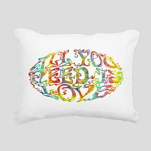 All You Need III Rectangular Canvas Pillow