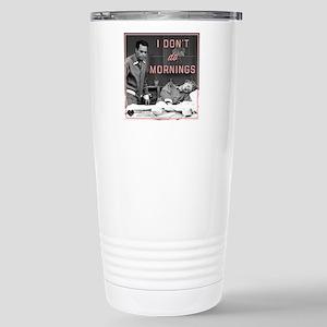 Mornings 16 oz Stainless Steel Travel Mug