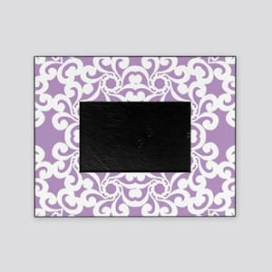 African Violet & White Lace Tile Picture Frame