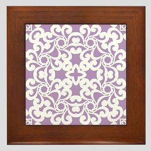 African Violet & White Lace Tile Framed Tile