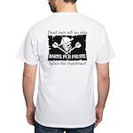 Darts Pub Pirate White T-Shirt