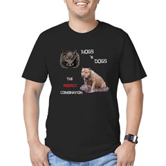 Hogs N Dogs Men's Fitted T-Shirt (dark)