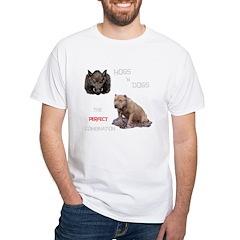Hogs N Dogs White T-Shirt