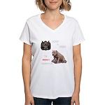 Hogs N Dogs Women's V-Neck T-Shirt