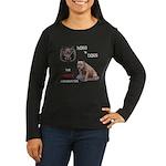 Hogs N Dogs Women's Long Sleeve Dark T-Shirt