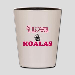 I Love Koalas Shot Glass