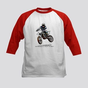 Rather be playing in the dirt with a motorbike Kid