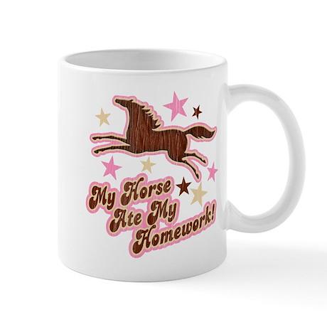Horse Ate My Homework Mug
