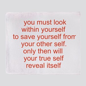 your true self Throw Blanket