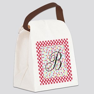 Personalizable Polka Dots Canvas Lunch Bag