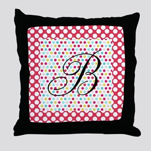 Personalizable Polka Dots Throw Pillow