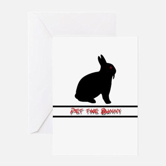 Pet the Bunny Greeting Card