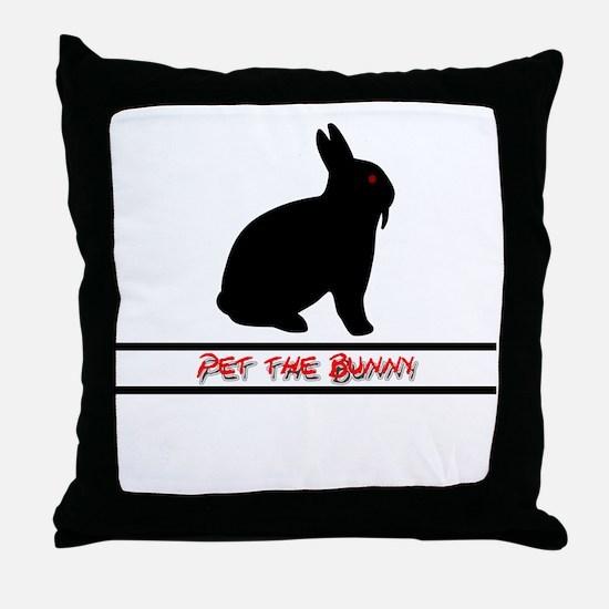 Pet the Bunny Throw Pillow
