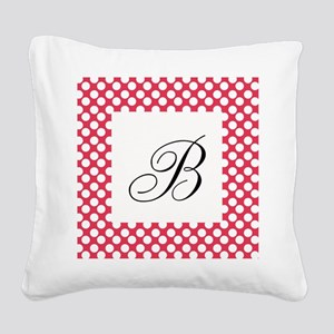 Personalizable Polka Dots White and Red Square Can