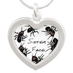 & There Where Ants... Silver Heart Necklace