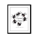& There Where Ants... Framed Panel Print