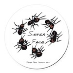 & There Where Ants... Round Car Magnet