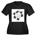 & There Where Ants... Women's Plus Size V-Neck Dar