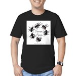 & There Where Ants... Men's Fitted T-Shirt (dark)