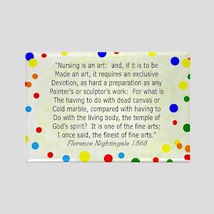 Nursing student FN polka pillow Rectangle Magnet