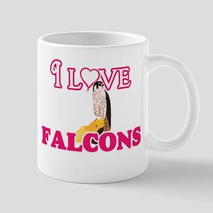 I Love Falcons Mugs