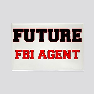 Future Fbi Agent Rectangle Magnet