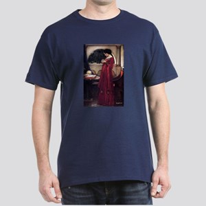 Crystal Ball magic lady Waterhouse painting Dark T