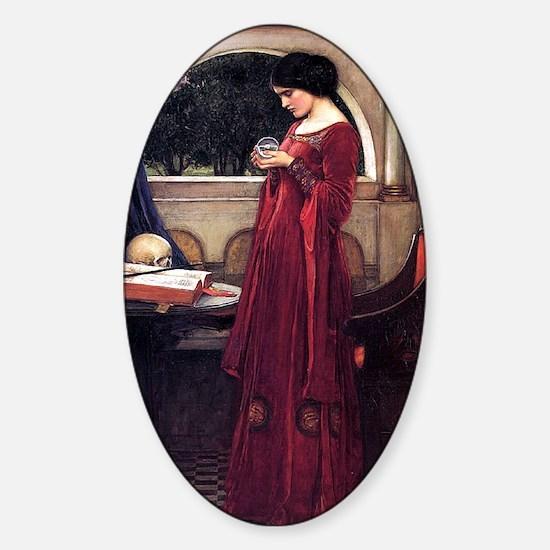 Crystal Ball magic lady Waterhouse painting Sticke