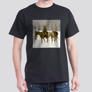 Remington Cowboy Painting Horses Western Winter Sn