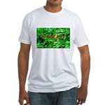 Hawaiian Palm Patterns Fitted T-Shirt