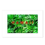 Hawaiian Palm Patterns Postcards (Package of 8)